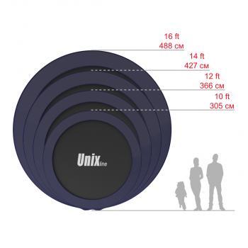 Батут UNIX line 14 ft SUPREME (BLUE и GREEN)