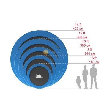 Батут UNIX line 8 ft outside (Blue)