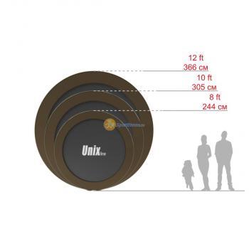 Батут UNIX line 12 ft Black&Brown (outside)