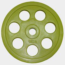 "Олимпийский диск евро-классик с хватом ""Ромашка"", 15 кг."